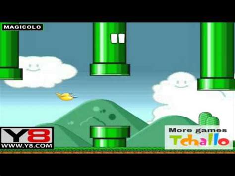Flappy Bird in Mario World - Y8 game to play online 2014