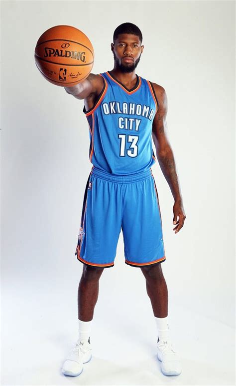 Paul George Debuts His Oklahoma City Thunder Jersey and