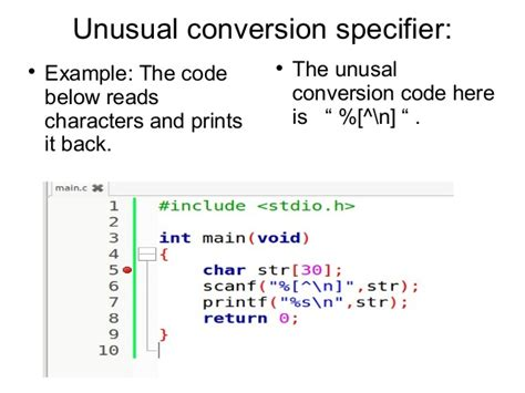 scanf function in c, variations in conversion specifier
