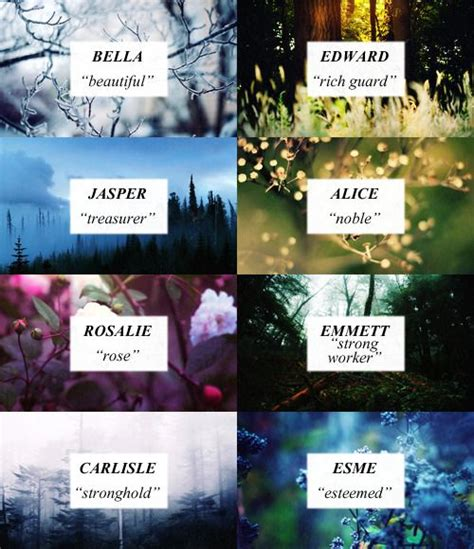 softfallen: Twilight Character Names + Meanings