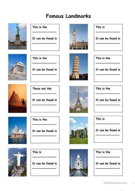 Write a short text about landmarks