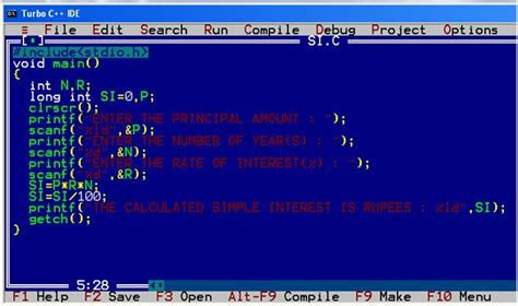 An interactive C program to calculate Simple interest