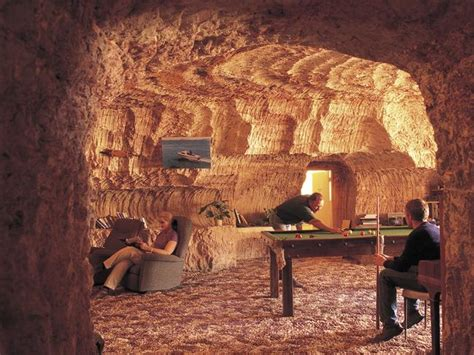 Australians live in caves called dugouts in Coober Pedy