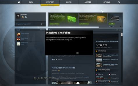 Cs go matchmaking cooldown for winning