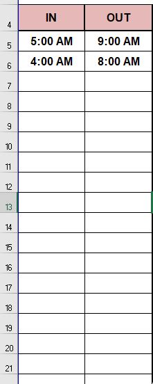 excel - VBA Calculate difference between two times in