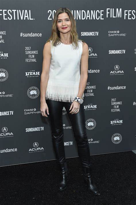 Jill Hennessy attends the 'Shots Fired' Premiere - Leather