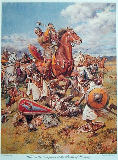 William the Conqueror at the Battle of Hastings by