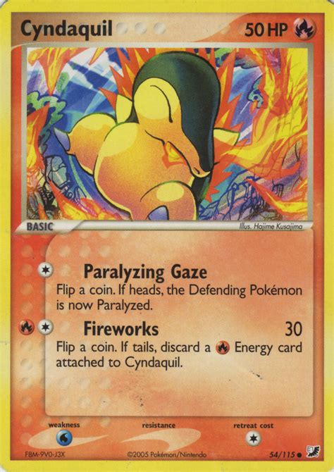Cyndaquil (EX Unseen Forces 54) - Bulbapedia, the