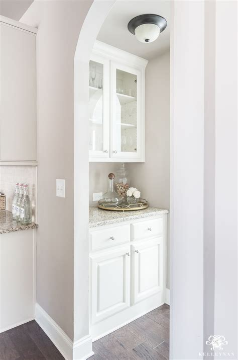 Organization Ideas for a Small Butler's Pantry | Kelley