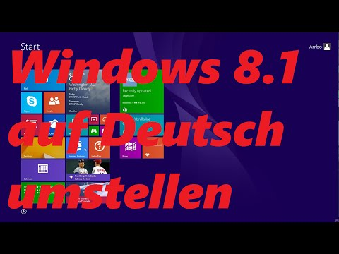 Windows 8 Sprache Umstellen
