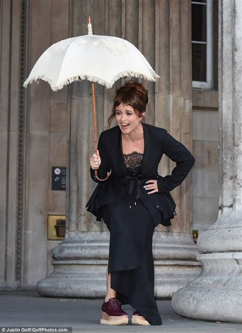 Helena Bonham Carter Displays Her Quirky Style in Chunky