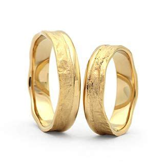 Trauringe Gold : g332 in 585 Gold Ringform: bombiert