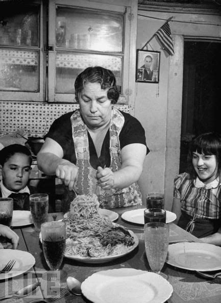 Mother Serving Spaghetti to Her Children Photographic