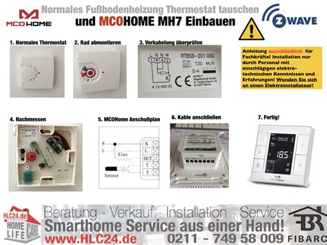 Z-Wave Fußbodenheizung Thermostat MCOHOME MH7 richtig