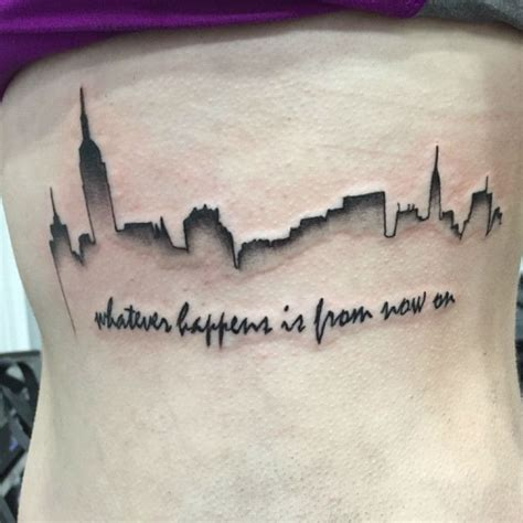 Skyline Tattoo Designs, Ideas and Meaning | Tattoos For You