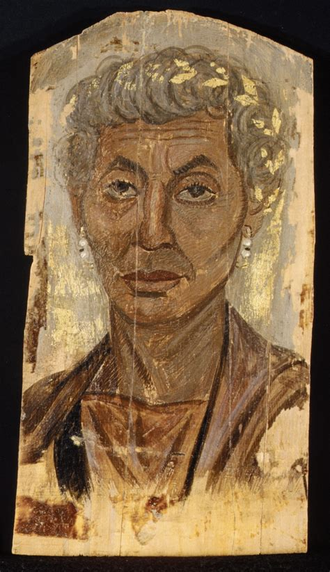 Portrait of an elderly lady with a gold wreath   Roman