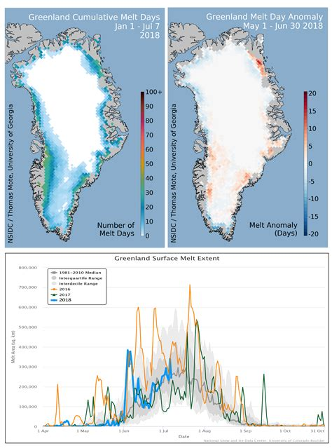 Greenland Ice Sheet Today   Surface Melt Data presented by