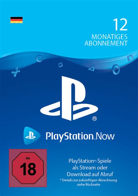 PlayStation Now 12 Monate - – Startselect
